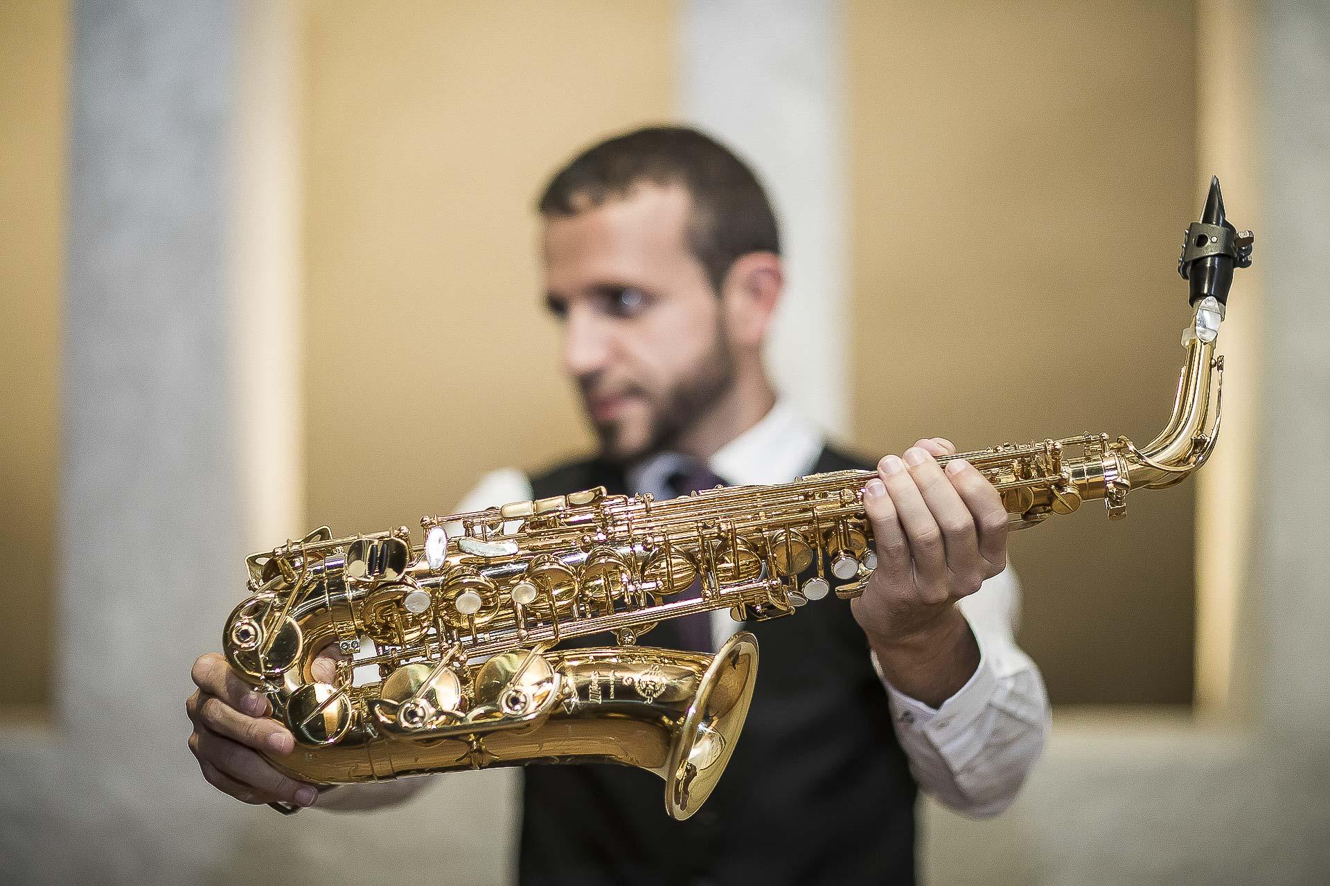 David saxofonista retrato